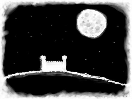 Moon over a Castle