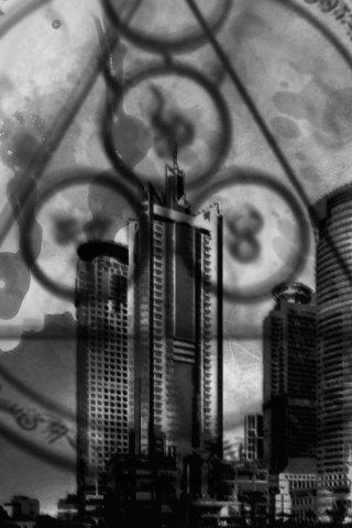 City with Symbols