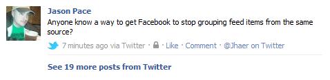 Facebook Grouping